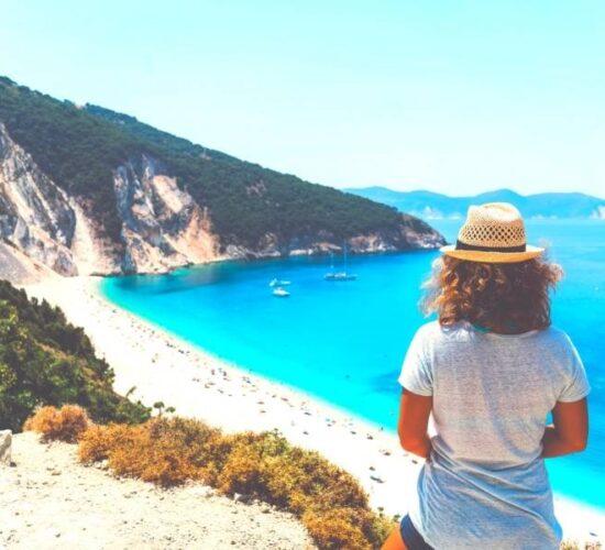 Viaggio organizzato a Cefalonia - La spiaggia di Myrtos
